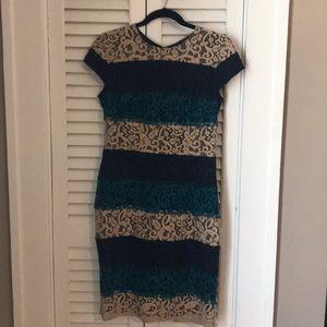 Ann Taylor strip lace dress size 4
